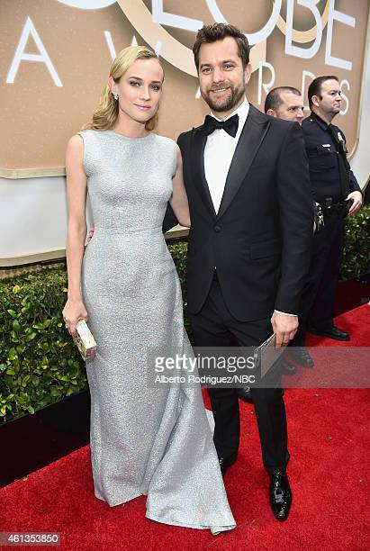 72nd ANNUAL GOLDEN GLOBE AWARDS Pictured Actors Diane Kruger and Joshua Jackson arrive to the 72nd Annual Golden Globe Awards held at the Beverly...