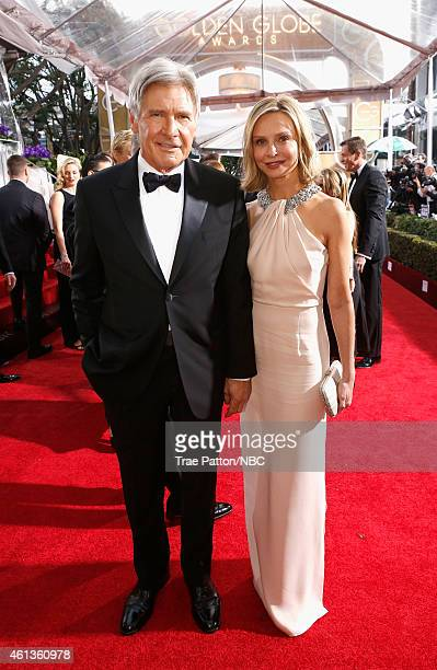 72nd ANNUAL GOLDEN GLOBE AWARDS Pictured Actors Harrison Ford and Calista Flockhart arrive to the 72nd Annual Golden Globe Awards held at the Beverly...