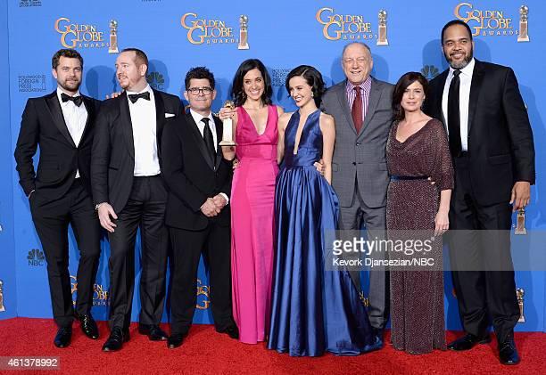 72nd ANNUAL GOLDEN GLOBE AWARDS Pictured Actors Joshua Jackson Darren Goldstein writer/director Jeffrey Reiner writer/producer Sarah Treem actors...