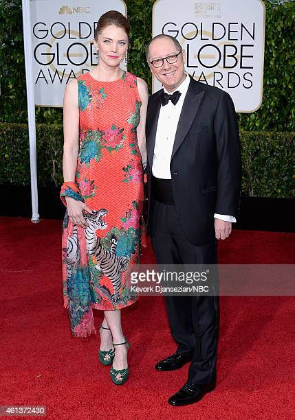 72nd ANNUAL GOLDEN GLOBE AWARDS Pictured Actors Leslie Stefanson and James Spader arrive to the 72nd Annual Golden Globe Awards held at the Beverly...