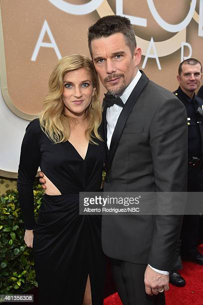 72nd ANNUAL GOLDEN GLOBE AWARDS Pictured Actors Ryan Hawke and Ethan Hawke arrive to the 72nd Annual Golden Globe Awards held at the Beverly Hilton...