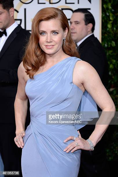72nd ANNUAL GOLDEN GLOBE AWARDS Pictured Actress Amy Adams arrives to the 72nd Annual Golden Globe Awards held at the Beverly Hilton Hotel on January...
