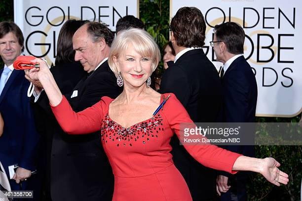 72nd ANNUAL GOLDEN GLOBE AWARDS Pictured Actress Helen Mirren arrives to the 72nd Annual Golden Globe Awards held at the Beverly Hilton Hotel on...