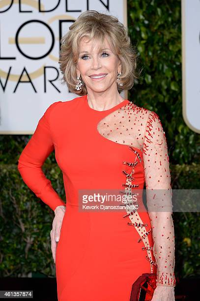 72nd ANNUAL GOLDEN GLOBE AWARDS Pictured Actress Jane Fonda arrives to the 72nd Annual Golden Globe Awards held at the Beverly Hilton Hotel on...