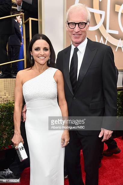 72nd ANNUAL GOLDEN GLOBE AWARDS Pictured Actress Julia LouisDreyfus and writer Brad Hall arrive to the 72nd Annual Golden Globe Awards held at the...