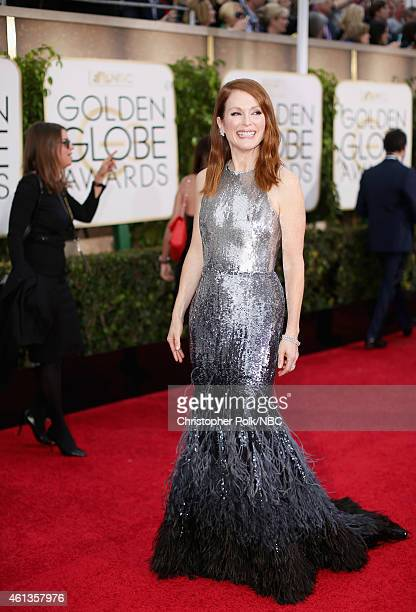72nd ANNUAL GOLDEN GLOBE AWARDS Pictured Actress Julianne Moore arrives to the 72nd Annual Golden Globe Awards held at the Beverly Hilton Hotel on...