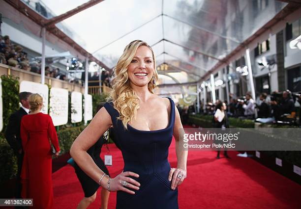 72nd ANNUAL GOLDEN GLOBE AWARDS -- Pictured: Actress Katherine Heigl arrives to the 72nd Annual Golden Globe Awards held at the Beverly Hilton Hotel...