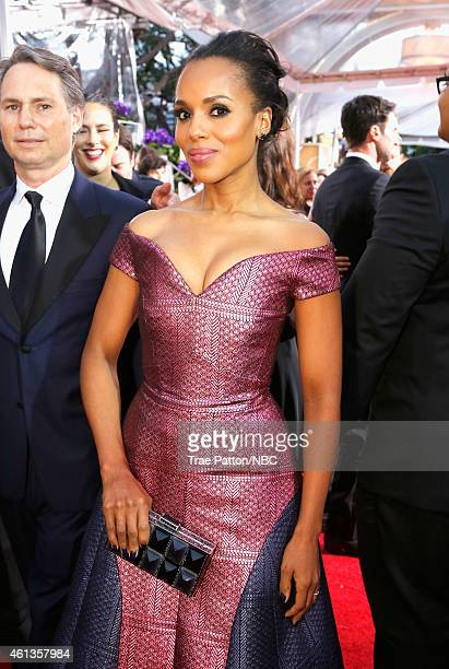 72nd ANNUAL GOLDEN GLOBE AWARDS Pictured Actress Kerry Washington arrives to the 72nd Annual Golden Globe Awards held at the Beverly Hilton Hotel on...