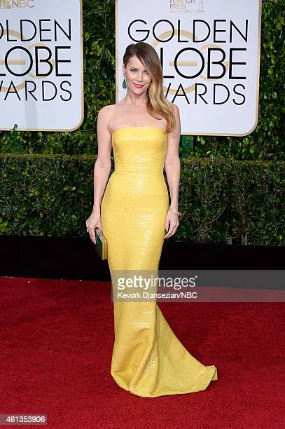 72nd ANNUAL GOLDEN GLOBE AWARDS Pictured Actress Leslie Mann arrives to the 72nd Annual Golden Globe Awards held at the Beverly Hilton Hotel on...
