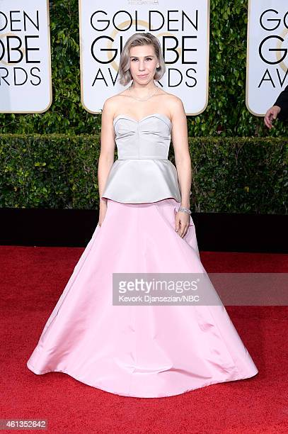 72nd ANNUAL GOLDEN GLOBE AWARDS Pictured Actress Zosia Mamet arrives to the 72nd Annual Golden Globe Awards held at the Beverly Hilton Hotel on...