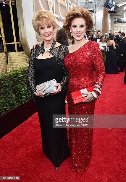 72nd ANNUAL GOLDEN GLOBE AWARDS Pictured Actresses Karen Sharpe Kramer and Kat Kramer arrive to the 72nd Annual Golden Globe Awards held at the...