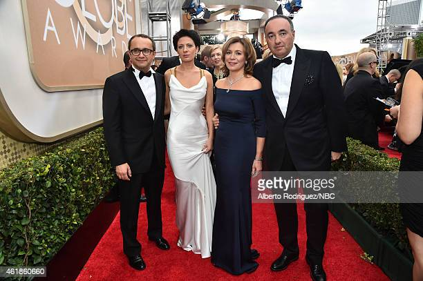 72nd ANNUAL GOLDEN GLOBE AWARDS Pictured Andrey Zvyagintsev guests and Alexander Rodnyansky arrive to the 72nd Annual Golden Globe Awards held at the...