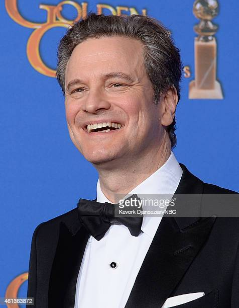 72nd ANNUAL GOLDEN GLOBE AWARDS Pictured Colin Firth poses in the press room at the 72nd Annual Golden Globe Awards held at the Beverly Hilton Hotel...
