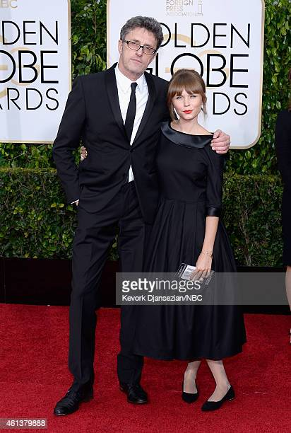 72nd ANNUAL GOLDEN GLOBE AWARDS -- Pictured: Filmmaker Pawel Pawlikowski and actress Agata Trzebuchowska arrive to the 72nd Annual Golden Globe...