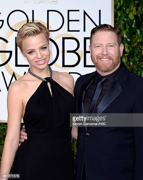 72nd ANNUAL GOLDEN GLOBE AWARDS Pictured Model Jessica Roffey and producer Ryan Kavanaugh arrive to the 72nd Annual Golden Globe Awards held at the...