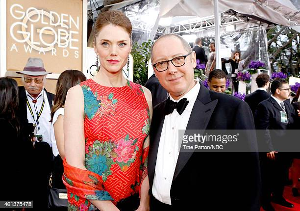 72nd ANNUAL GOLDEN GLOBE AWARDS Pictured Model Leslie Stefanson and actor James Spader arrive to the 72nd Annual Golden Globe Awards held at the...