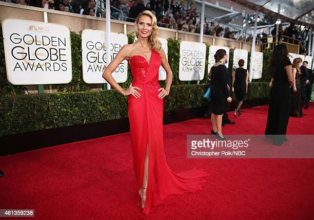 72nd ANNUAL GOLDEN GLOBE AWARDS Pictured Model/TV personality Heidi Klum arrives to the 72nd Annual Golden Globe Awards held at the Beverly Hilton...
