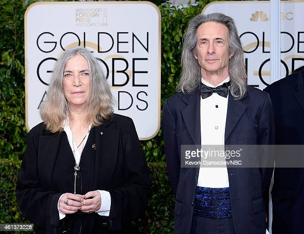 72nd ANNUAL GOLDEN GLOBE AWARDS Pictured Musicians Patti Smith and Lenny Kaye arrive to the 72nd Annual Golden Globe Awards held at the Beverly...