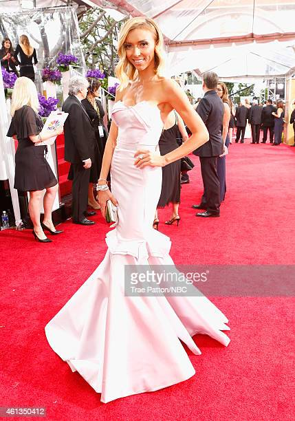 72nd ANNUAL GOLDEN GLOBE AWARDS -- Pictured: TV personality Giuliana Rancic arrives to the 72nd Annual Golden Globe Awards held at the Beverly Hilton...