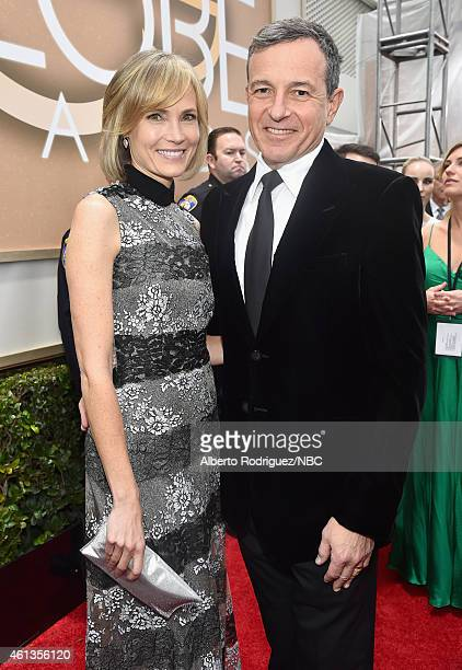 72nd ANNUAL GOLDEN GLOBE AWARDS Pictured Willow Bay and The Walt Disney Company Chairman and CEO Bob Iger arrive to the 72nd Annual Golden Globe...