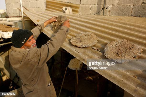 72yearold Pakistani man Mahmoud Fadil Ekrem who was isolated at Syrias Eastern Ghouta which is under blockade by Assad regime dries animal dung for...