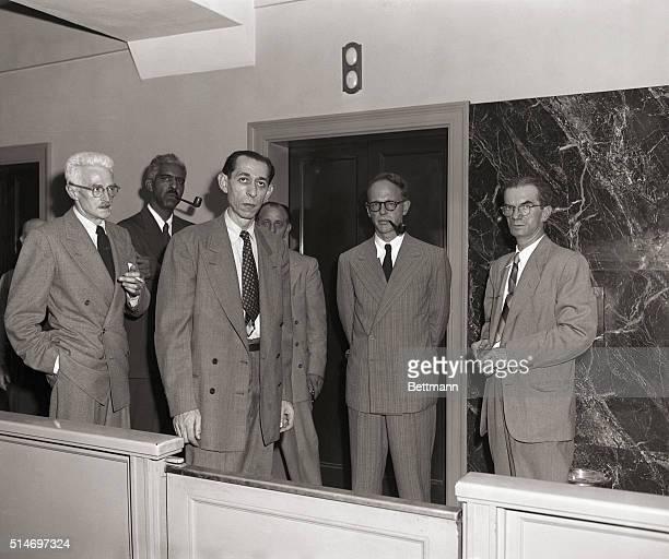 7/31/1951New York Ny Dashiell Hammett Alpheus Hinton Abner Green Fredrick Vanderbilt Field and unidentified US Marshall