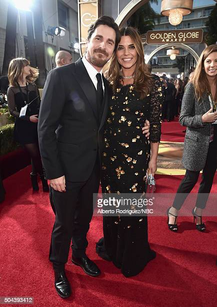73rd ANNUAL GOLDEN GLOBE AWARDS Pictured Actor Christian Bale and Sibi Bale arrive to the 73rd Annual Golden Globe Awards held at the Beverly Hilton...