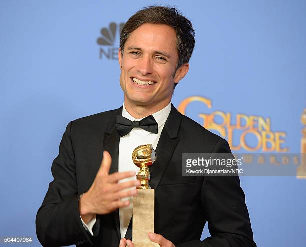 73rd ANNUAL GOLDEN GLOBE AWARDS Pictured Actor Gael Garcia Bernal winner of the award for Best Performance by an Actor in a Television Series Musical...