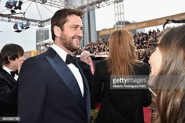 73rd ANNUAL GOLDEN GLOBE AWARDS Pictured Actor Gerard Butler arrives to the 73rd Annual Golden Globe Awards held at the Beverly Hilton Hotel on...