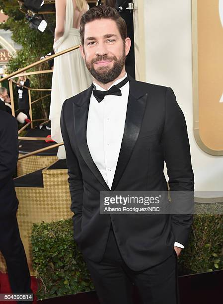 73rd ANNUAL GOLDEN GLOBE AWARDS Pictured Actor John Krasinski arrives to the 73rd Annual Golden Globe Awards held at the Beverly Hilton Hotel on...