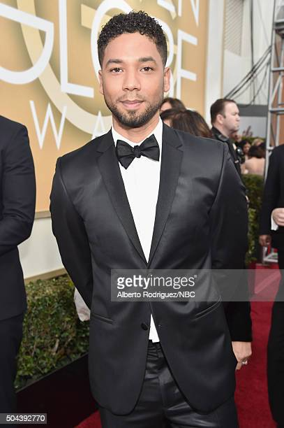 73rd ANNUAL GOLDEN GLOBE AWARDS Pictured Actor Jussie Smollett arrives to the 73rd Annual Golden Globe Awards held at the Beverly Hilton Hotel on...