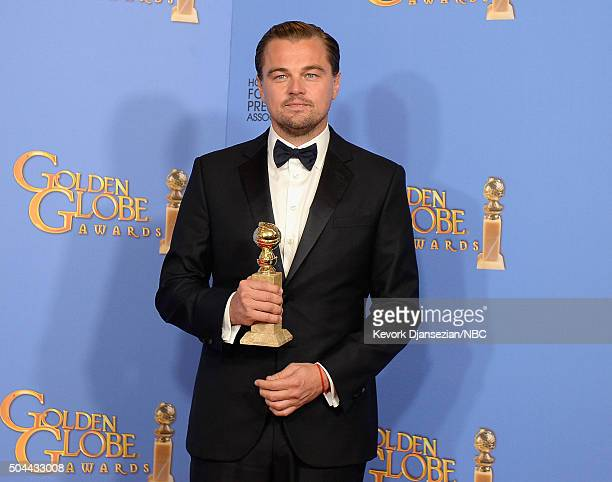 73rd ANNUAL GOLDEN GLOBE AWARDS -- Pictured: Actor Leonardo DiCaprio, winner of the award for Best Performance by an Actor in a Motion Picture -...