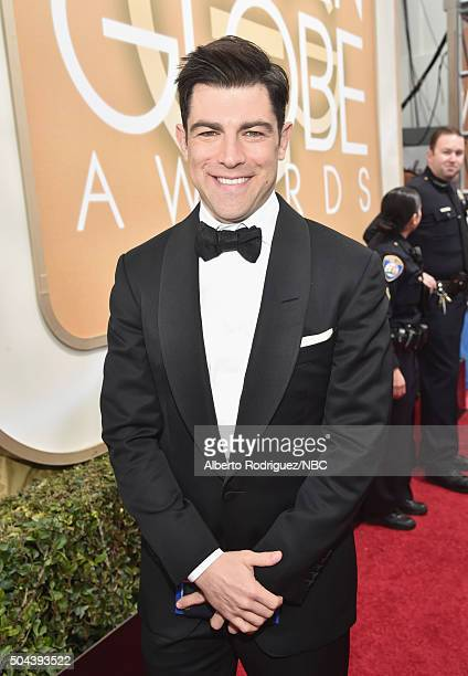73rd ANNUAL GOLDEN GLOBE AWARDS Pictured Actor Max Greenfield arrives to the 73rd Annual Golden Globe Awards held at the Beverly Hilton Hotel on...