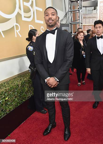 73rd ANNUAL GOLDEN GLOBE AWARDS Pictured Actor Michael B Jordan arrives to the 73rd Annual Golden Globe Awards held at the Beverly Hilton Hotel on...
