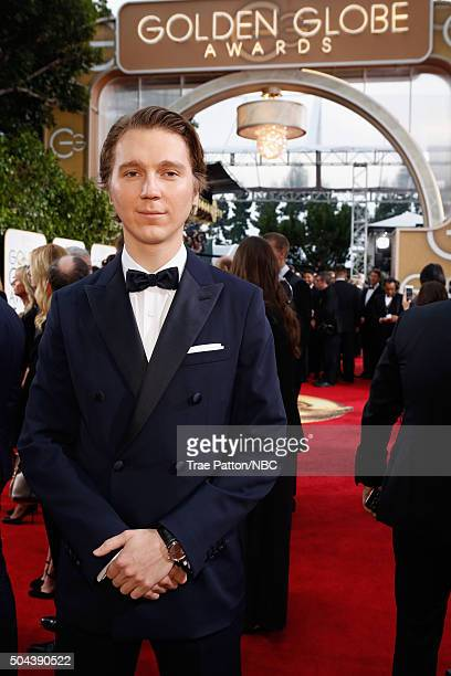 73rd ANNUAL GOLDEN GLOBE AWARDS Pictured Actor Paul Dano arrives to the 73rd Annual Golden Globe Awards held at the Beverly Hilton Hotel on January...