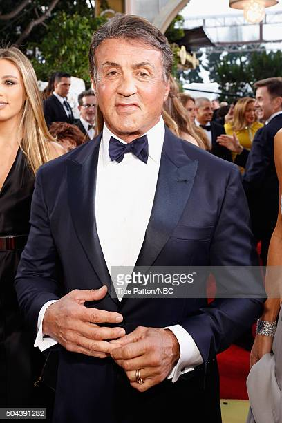 73rd ANNUAL GOLDEN GLOBE AWARDS Pictured Actor Sylvester Stallone arrives to the 73rd Annual Golden Globe Awards held at the Beverly Hilton Hotel on...