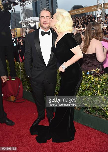 73rd ANNUAL GOLDEN GLOBE AWARDS Pictured Actor Taylor Kinney and actress/recording artist Lady Gaga arrive to the 73rd Annual Golden Globe Awards...