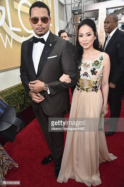 73rd ANNUAL GOLDEN GLOBE AWARDS Pictured Actor Terrence Howard and Mira Pak arrive to the 73rd Annual Golden Globe Awards held at the Beverly Hilton...