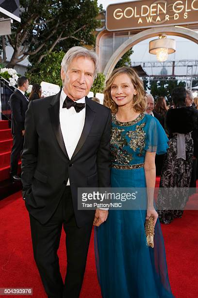 73rd ANNUAL GOLDEN GLOBE AWARDS Pictured Actors Harrison Ford and Calista Flockhart arrive to the 73rd Annual Golden Globe Awards held at the Beverly...