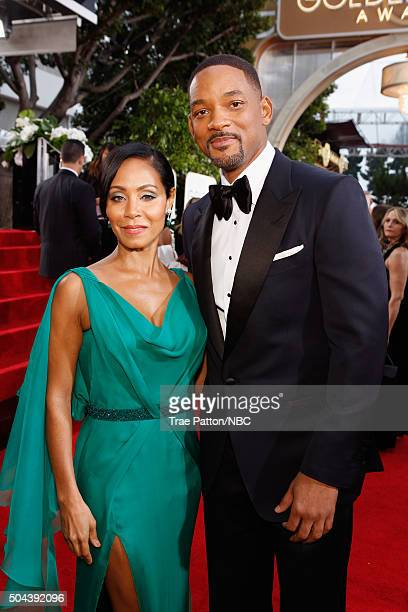 73rd ANNUAL GOLDEN GLOBE AWARDS Pictured Actors Jada Pinkett Smith and Will Smith arrive to the 73rd Annual Golden Globe Awards held at the Beverly...