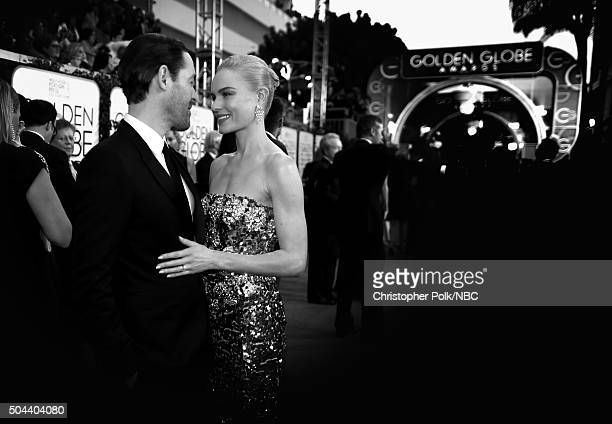 73rd ANNUAL GOLDEN GLOBE AWARDS Pictured Actors Michael Polish and Kate Bosworth arrive to the 73rd Annual Golden Globe Awards held at the Beverly...