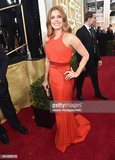 73rd ANNUAL GOLDEN GLOBE AWARDS Pictured Actress Amy Adams arrives to the 73rd Annual Golden Globe Awards held at the Beverly Hilton Hotel on January...