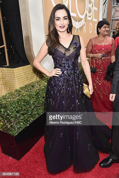 73rd ANNUAL GOLDEN GLOBE AWARDS Pictured Actress Ana de la Reguera arrives to the 73rd Annual Golden Globe Awards held at the Beverly Hilton Hotel on...