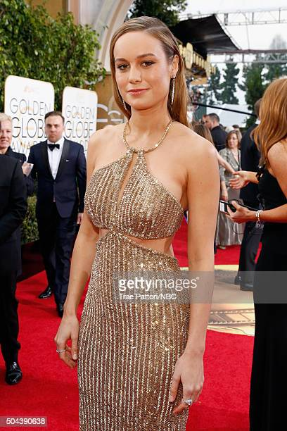 73rd ANNUAL GOLDEN GLOBE AWARDS Pictured Actress Brie Larson arrives to the 73rd Annual Golden Globe Awards held at the Beverly Hilton Hotel on...