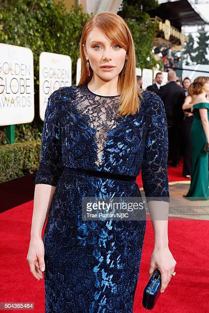 73rd ANNUAL GOLDEN GLOBE AWARDS Pictured Actress Bryce Dallas Howard arrives to the 73rd Annual Golden Globe Awards held at the Beverly Hilton Hotel...