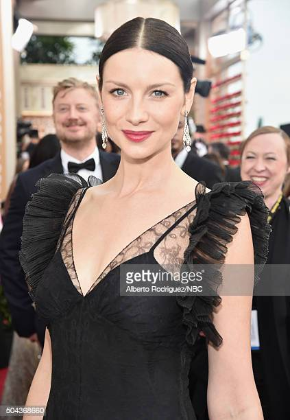 73rd ANNUAL GOLDEN GLOBE AWARDS Pictured Actress Caitriona Balfe arrives to the 73rd Annual Golden Globe Awards held at the Beverly Hilton Hotel on...