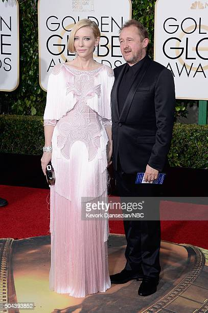 73rd ANNUAL GOLDEN GLOBE AWARDS Pictured Actress Cate Blanchett and writer/producer Andrew Upton arrive to the 73rd Annual Golden Globe Awards held...