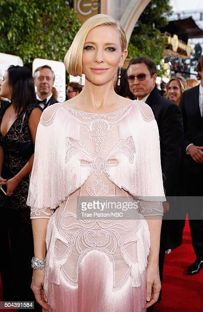 73rd ANNUAL GOLDEN GLOBE AWARDS Pictured Actress Cate Blanchett arrives to the 73rd Annual Golden Globe Awards held at the Beverly Hilton Hotel on...