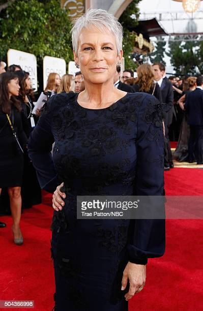 73rd ANNUAL GOLDEN GLOBE AWARDS Pictured Actress Jamie Lee Curtis arrives to the 73rd Annual Golden Globe Awards held at the Beverly Hilton Hotel on...