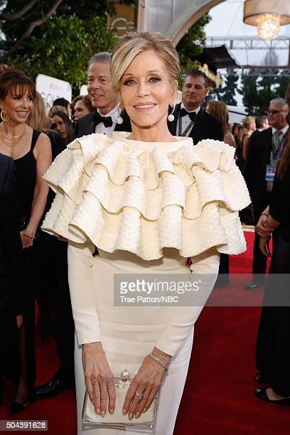73rd ANNUAL GOLDEN GLOBE AWARDS Pictured Actress Jane Fonda arrives to the 73rd Annual Golden Globe Awards held at the Beverly Hilton Hotel on...